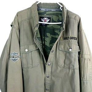 Harley Davidson Utility Military Canvas Jacket XL